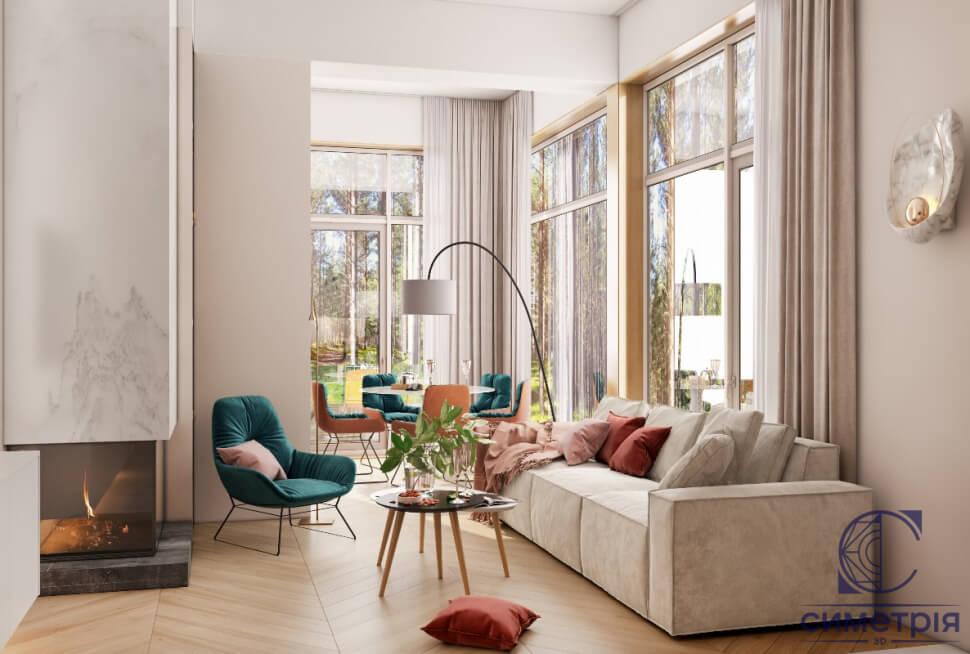 дизайн одноэтажного дома